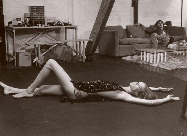 "Arthur Evans. 'Veruschka von Lehndorff with David Hemmings in ""Blow Up"" (directed by Michelangelo Antonioni)' 1966"
