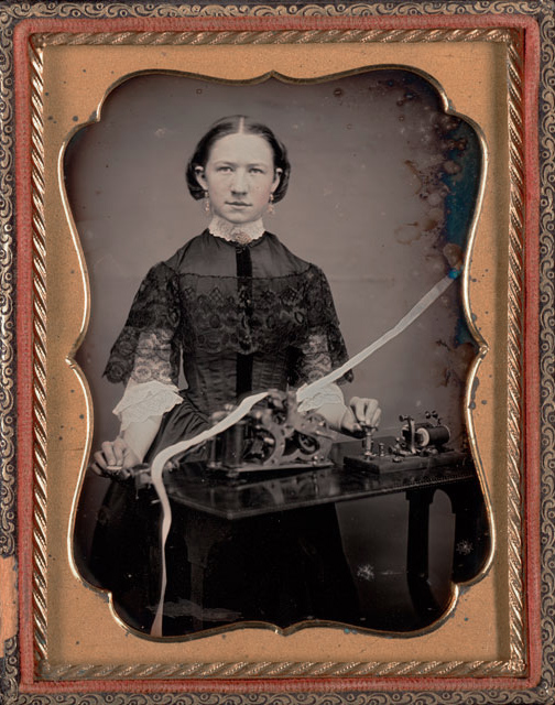 Unknown maker, American. 'Woman telegrapher' c. 1850