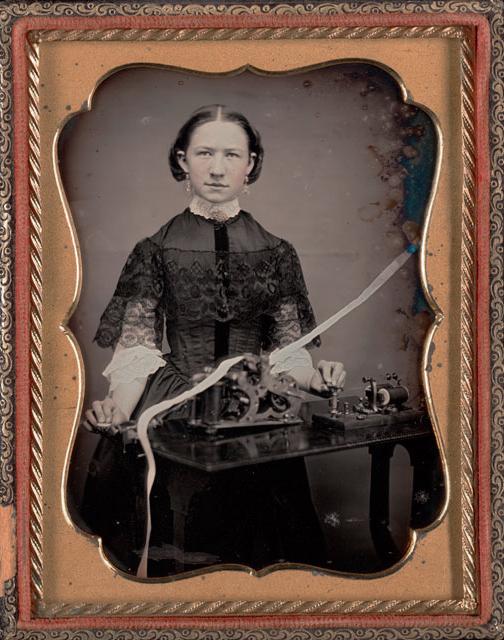 Unknown maker, American. 'Woman telegrapher' c. 1850