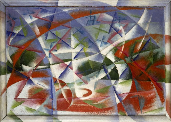 Giacomo Balla. 'Abstract Speed + Sound' (Velocità astratta + rumore) 1913-14