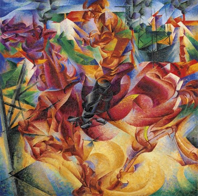 Umberto Boccioni. 'Elasticity (Elasticità)' 1912