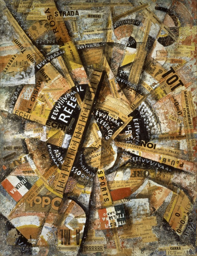 Carlo Carrà. 'Interventionist Demonstration' (Manifestazione Interventista) 1914