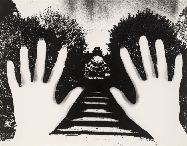 Sue Ford (Australia 1943-2009) 'No title (Photogram of two hands and garden path)' c. 1970