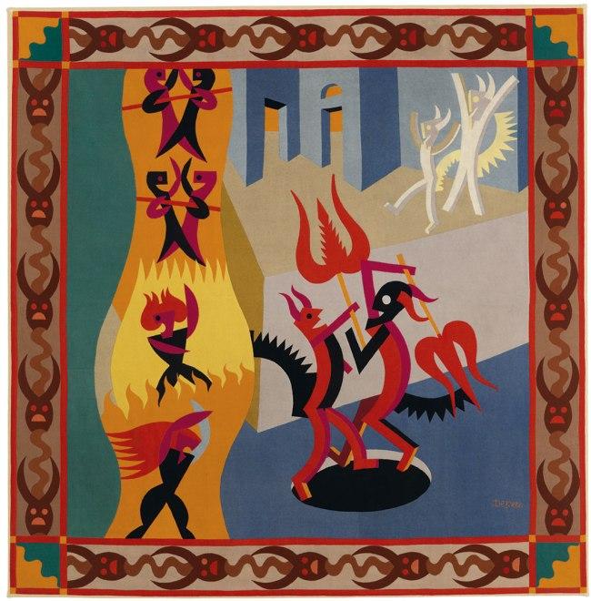 Fortunato Depero. 'Little Black and White Devils, Dance of Devils' (Diavoletti neri e bianchi, Danza di diavoli) 1922-23