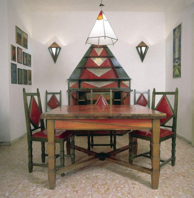 Gerardo Dottori. 'Cimino Home Dining Room Set' (Sala da pranzo di casa Cimino) early 1930s