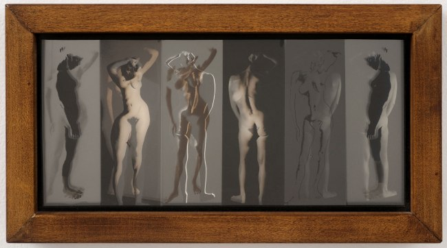 Robert Heinecken (American, 1931-2006) 'Six Figures/Mixed' 1968
