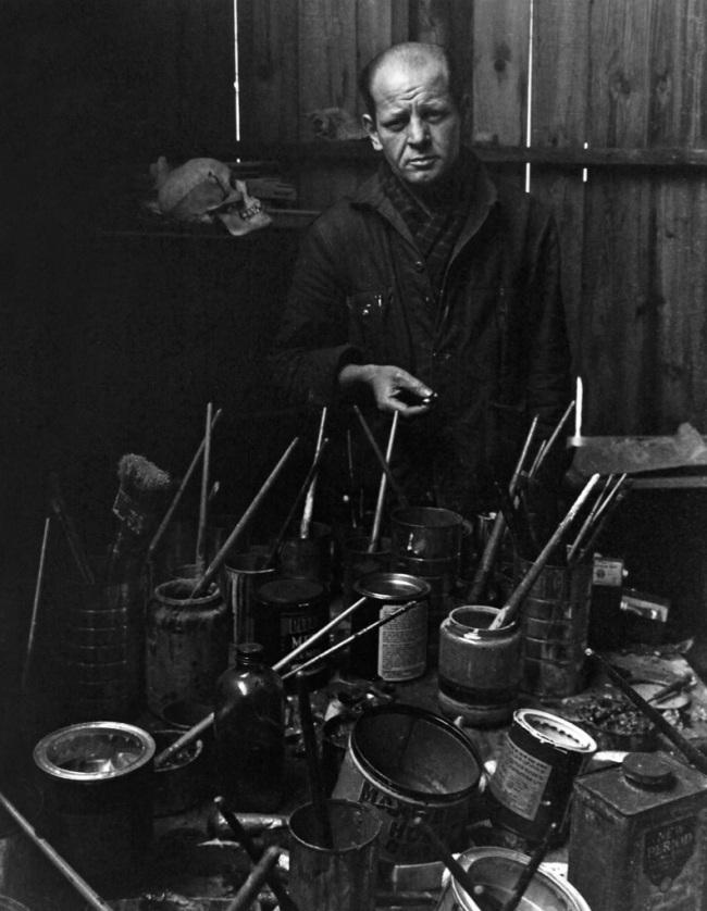 Arnold A. Newman. 'Jackson Pollock' 1949