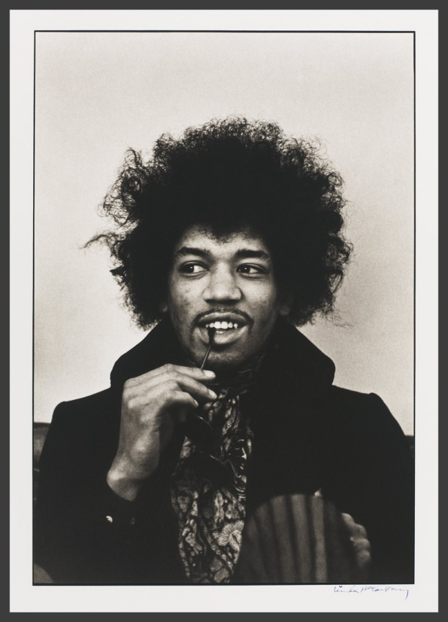 Linda McCartney. 'Jimi Hendrix' 1967 (printed later)