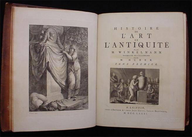 Johann Joachim Winckelmann. 'Histoire de l'art de l'antiquité' 1781