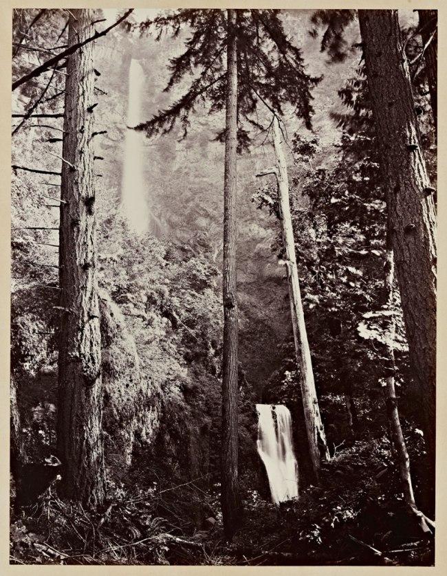 Carleton Watkins (U.S.A., 1829-1916) 'Multnomah Falls, Columbia River, Oregon' 1867