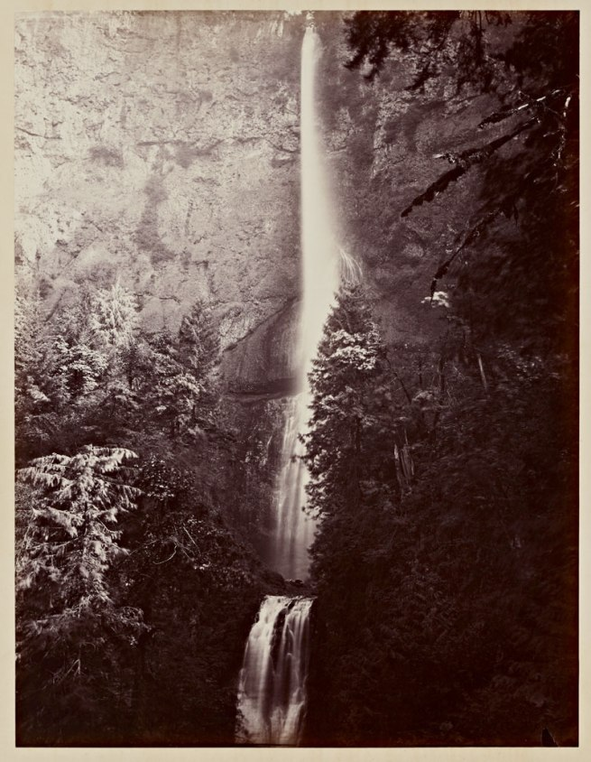 Carleton Watkins (U.S.A., 1829-1916) 'Multnomah Falls, Cascades, Columbia River' 1867