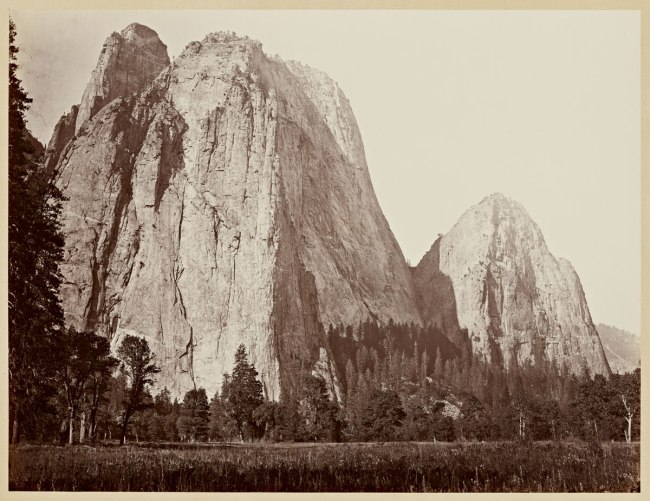 Carleton Watkins (U.S.A., 1829-1916) 'Cathedral Rocks, 2630 ft., Yosemite' 1865-1866