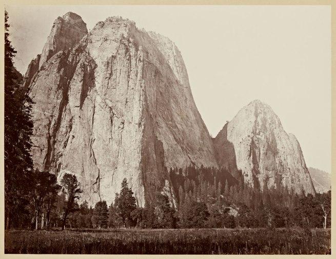 Carleton Watkins (U.S.A., 1829-1916) 'Cathedral Rocks, 2630 ft., Yosemite' 1865-1866