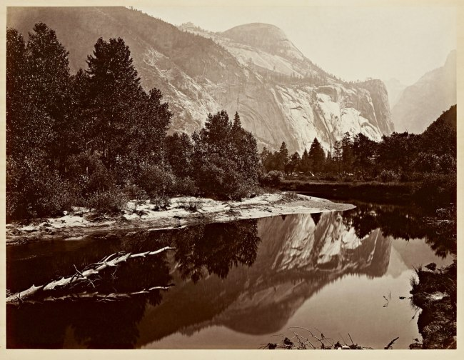 Carleton Watkins (U.S.A., 1829-1916) 'Mirror View of the North Dome, Yosemite' 1865-1866