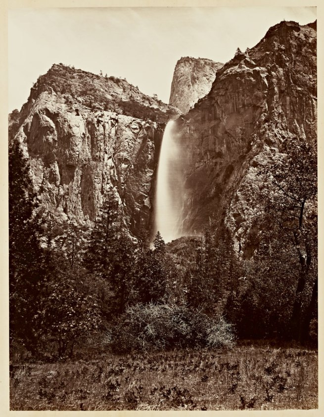 Carleton Watkins (U.S.A., 1829-1916) 'Pohono, the Bridal Veil, Yosemite 900 ft.' 1865-1866