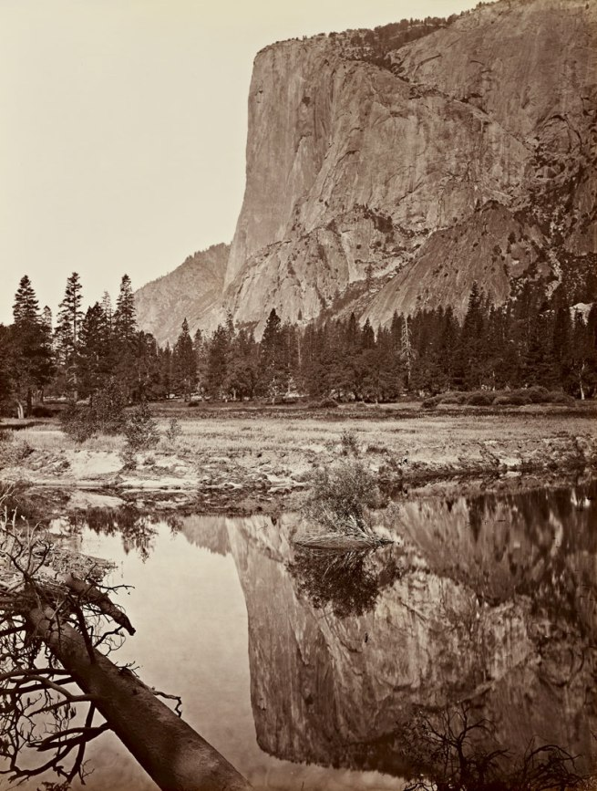 Carleton Watkins (U.S.A., 1829-1916) 'Mirror View of El Capitan, Yosemite' 1865-1866