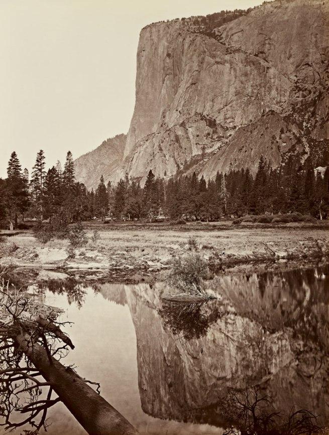 Carleton Watkins (U.S.A., 1829-1916) 'Mirror View of El Capitan, Yosemite' 1865-1866