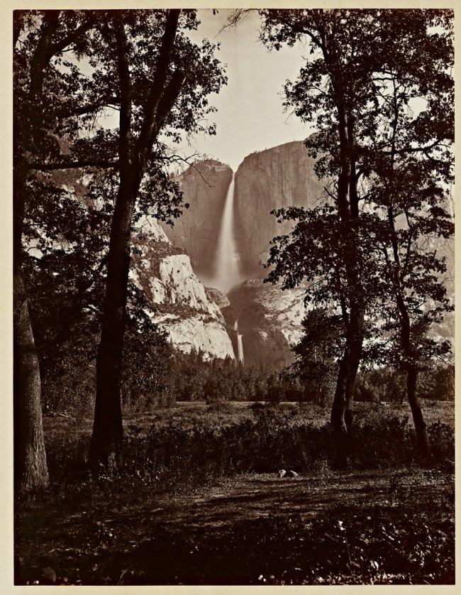 Carleton Watkins (U.S.A., 1829-1916) 'The Yosemite Falls, 2634 ft.' 1865-1866