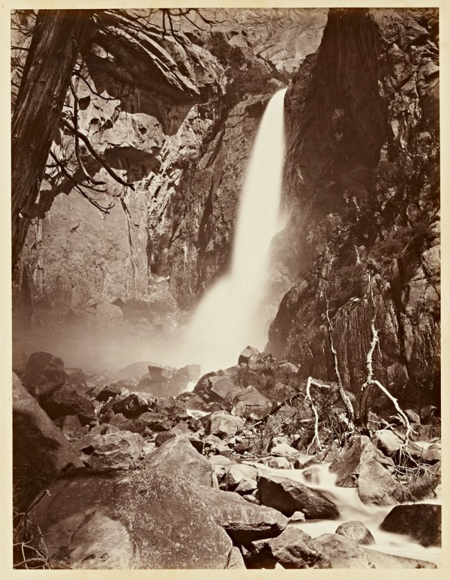 Carleton Watkins (U.S.A., 1829-1916) 'The Lower Yosemite Fall, Yosemite' 1865-1866