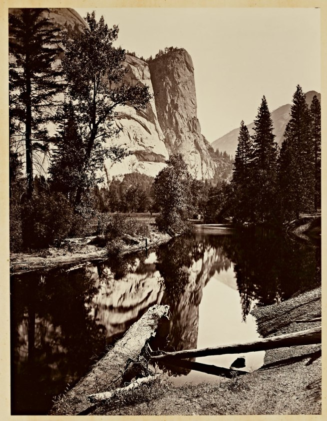 Carleton Watkins (U.S.A., 1829-1916) 'Washington Column, 2082 ft., Yosemite' 1865-1866