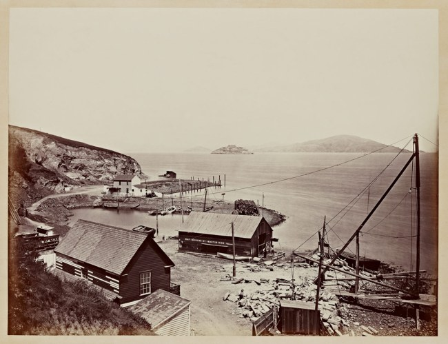 Carleton Watkins (U.S.A., 1829-1916) 'Alcatraz from North Point' 1862–1863