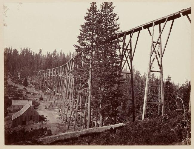 Carleton Watkins (U.S.A., 1829-1916) 'Magenta Flume Nevada Co. Cal.' c. 1871