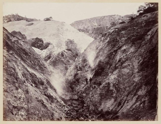 Carleton Watkins (U.S.A., 1829-1916) 'Devils' Cañon Geysers, Looking Up' c. 1867