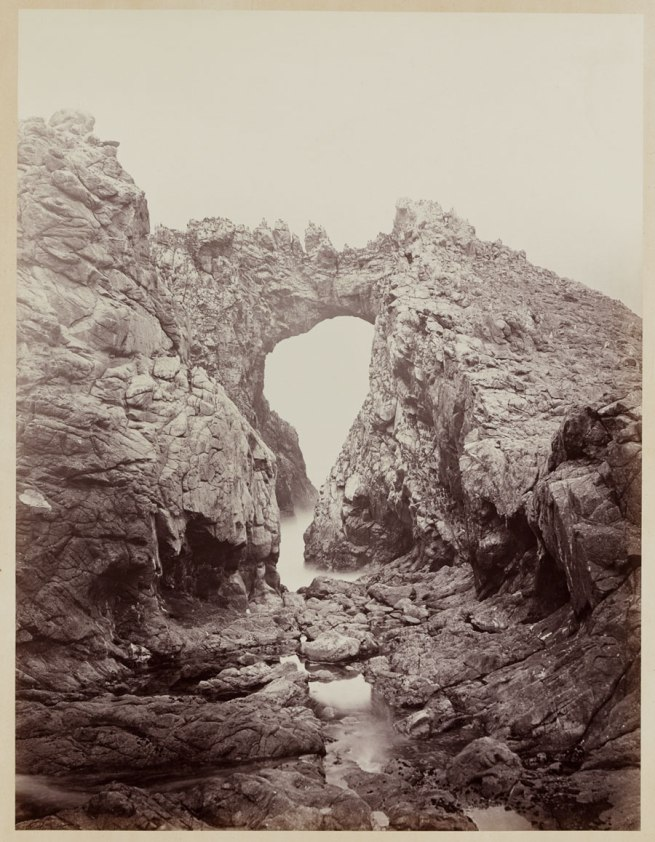 Carleton Watkins (U.S.A., 1829-1916) 'Arch at the West End, Farallones' 1868-1869