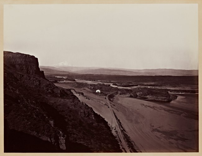 Carleton Watkins (U.S.A., 1829-1916) 'Mt. Hood and the Dalles, Columbia River' 1867