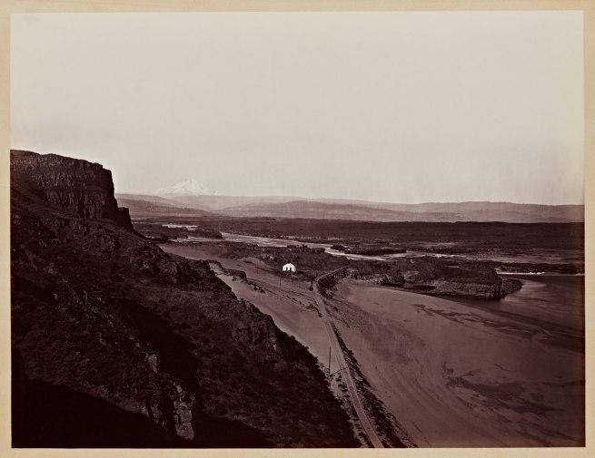 Carleton Watkins (U.S.A., 1829-1916) 'Mt. Hood and the Dalles, Columbia River' 1867