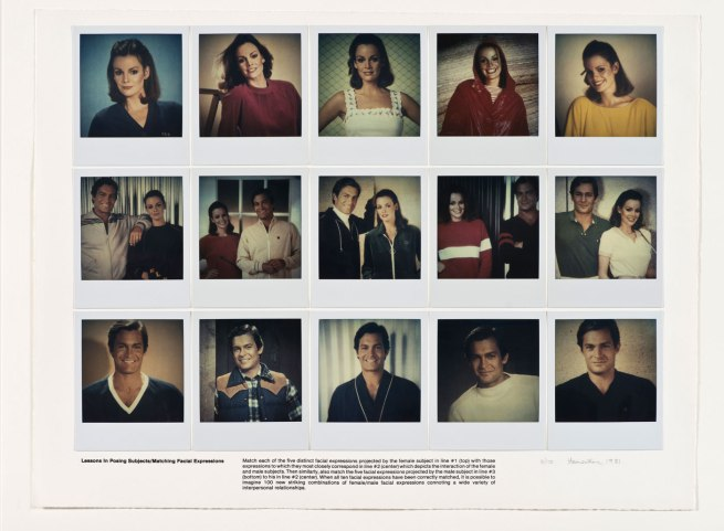Robert Heinecken (American, 1931-2006) 'Lessons in Posing Subjects / Matching Facial Expressions' 1981