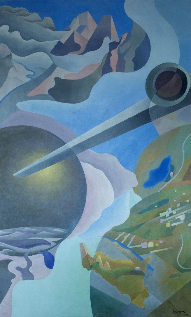 Benedetta (Cappa Marinetti). 'Synthesis of Aerial Communications' (Sintesi delle comunicazioni aeree) 1933-34