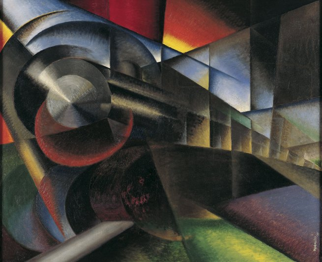 Ivo Pannaggi. 'Speeding Train' (Treno in corsa) 1922