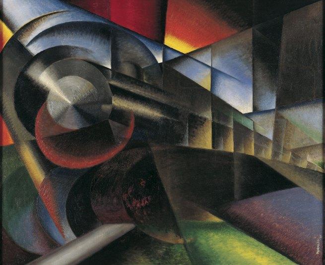 Ivo Pannaggi. 'Speeding Train' (Treno in corsa) 1922