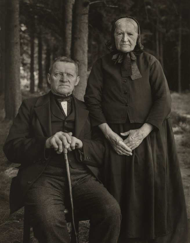 August Sander. 'Bauernpaar - Zucht und Harmonie' [Peasant Couple - Breeding and Harmony] 1912