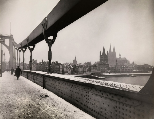 August Sander. 'Deutz Bridge, Rhine in winter' 1937