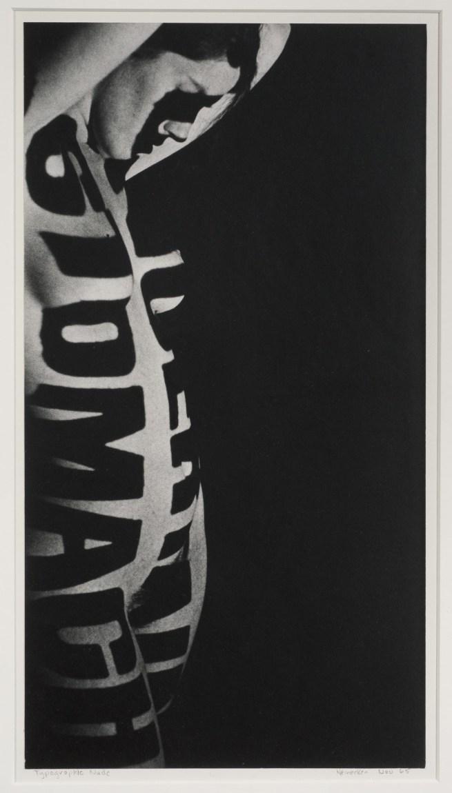 Robert Heinecken (American, 1931-2006) 'Typographic Nude' 1965