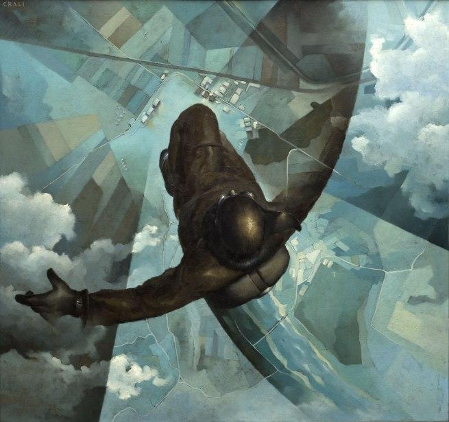 Tullio Crali. 'Before the Parachute Opens' (Prima che si apra il paracadute) 1939