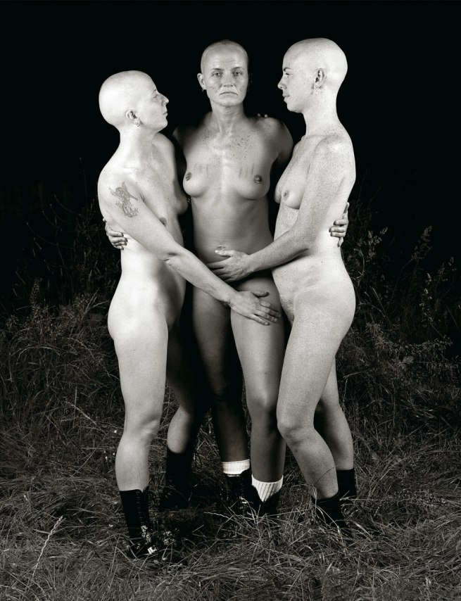 Del LaGrace Volcano. 'The Three Graces, Jasper, Suzie and Gill, London' 1992