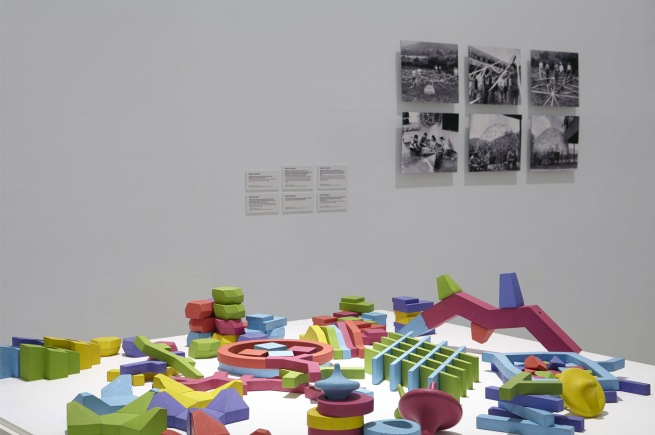 Installation view of the exhibition 'Playgrounds. Reinventing the square'