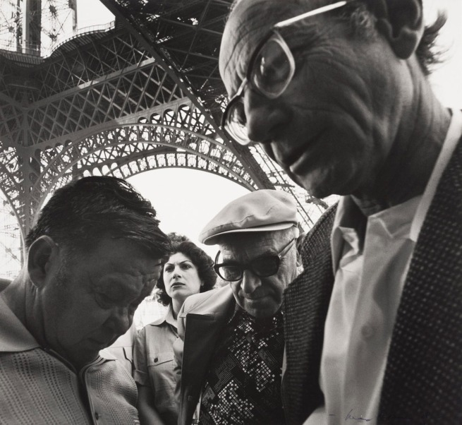 Max Dupain. 'Untitled (group of people near the Eiffel tower)' 1978
