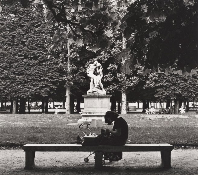 Max Dupain. 'Untitled (woman with pram in Jardin des Tuileries)' 1978