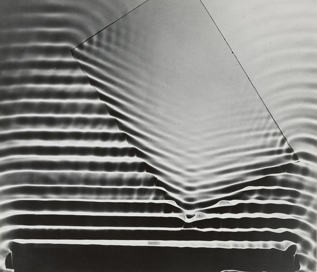 Berenice Abbott (American, 1898-1991) 'Wave Pattern with Glass Plate, Massachusetts Institute of Technology' 1958-61