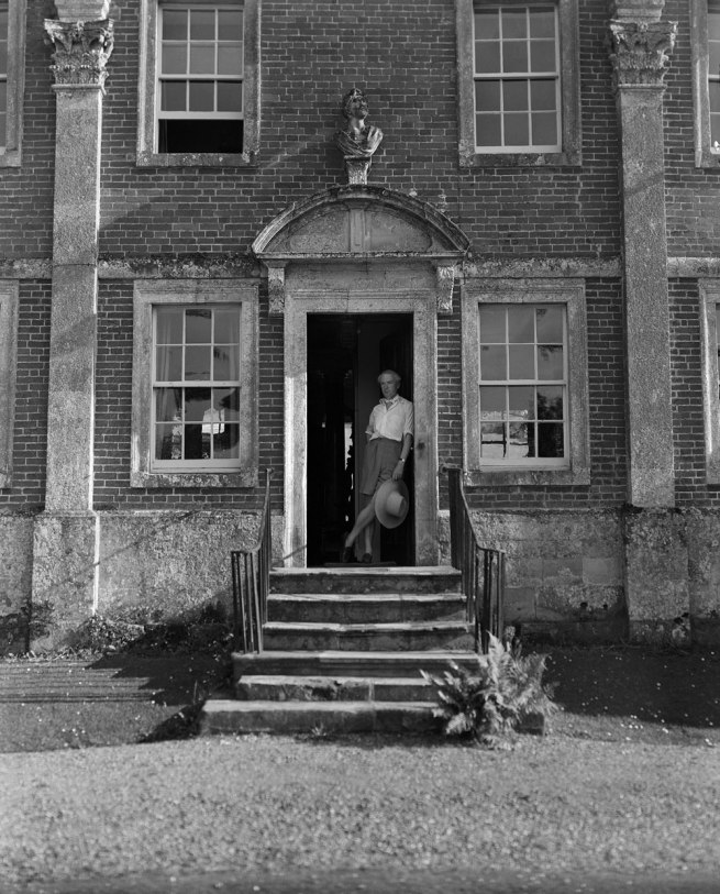 Cecil Beaton. 'Cecil Beaton on the front steps of Reddish House, Broad Chalke, June 1947, Reddish' 1947