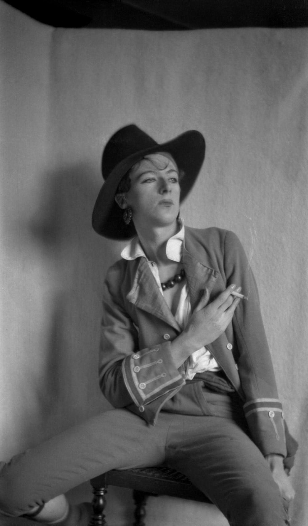 """Cecil Beaton. 'Cecil Beaton in """"All the Vogue"""", Cambridge' 1925"""