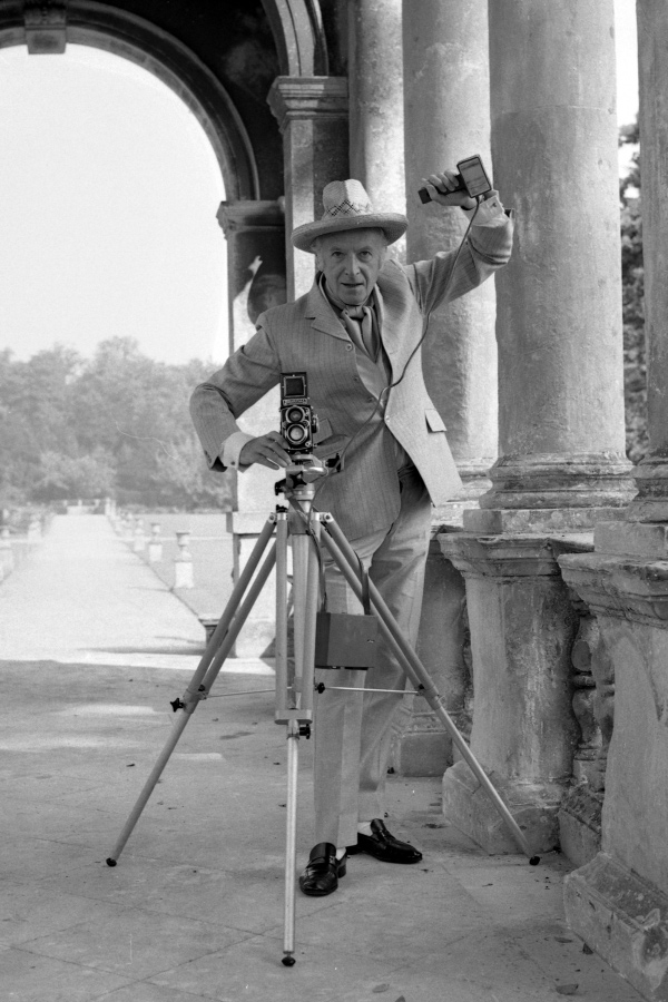 Cecil Beaton. 'Cecil Beaton on the Palladian bridge at Wilton House, September 1968' (detail) 1968