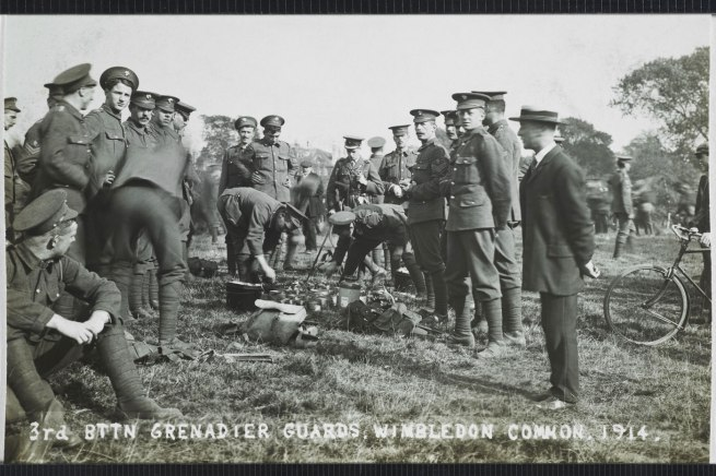 Christina Bloom. 'The 3rd Battalion Grenadier Guards prepare for war at the Wimbledon Common training camp in 1914'