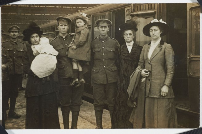 Christina Bloom. 'Soldiers from the Household Battalion leaving for the Front' 1916