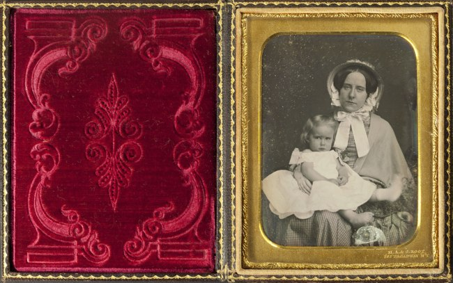 Marcus A. Root. 'Daguerreotype of a Mother and Child' 1840