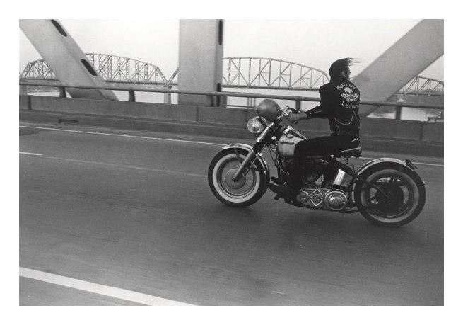 Danny Lyon. 'Crossing the Ohio River, Louisville, 1966' 1966